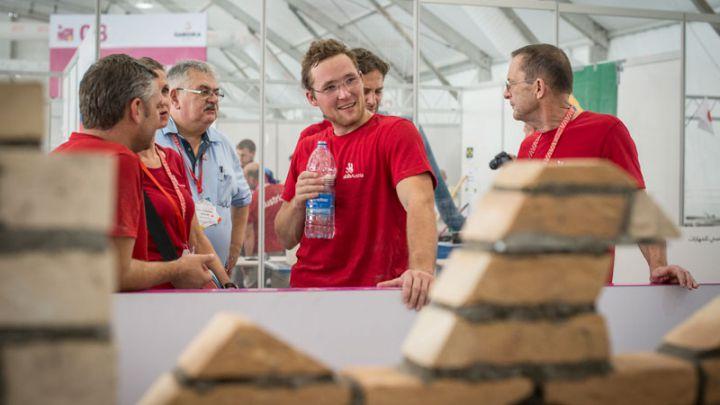 Baumeister Johannes Dinhobl bei den World Skills